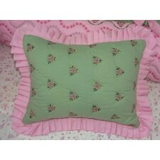 Summer Garden Cotton Boudoir/Breakfast Pillow