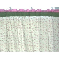 Summer Garden Cotton Rod Pocket Single Curtain Panel