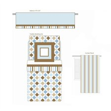 Mod Diamonds and Stripes Toddler Bedding Collection