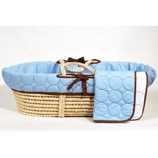 Quilted Circles Moses Basket