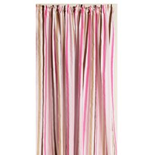 Mod Stripes Cotton Rod Pocket Single Curtain Panel
