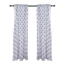 Mini Elephants Single Curtain Panel