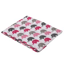 Elephants Fitted Crib Sheet