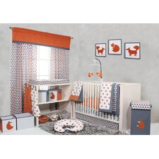 Playful Fox Bumperfree 10 Piece Crib Bedding Set