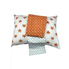 Playful Fox 3 Piece Toddler Bedding Sheet Set