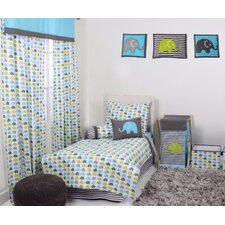 Elephants 4 Piece Toddler Bedding Set