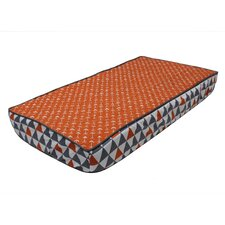 Playful Fox Quilted Changing Pad Cover