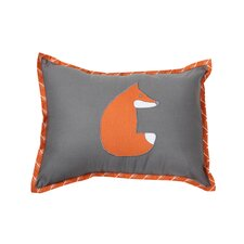 Playful Fox Cotton Throw Pillow