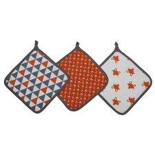 Playful Fox Wash Cloth (Set of 3)