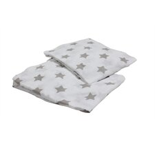 Stars Fitted Crib Sheets (Set of 2)