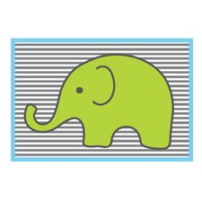 Elephants Lime Area Rug