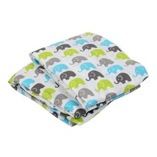 Elephants Fitted Crib Sheets (Set of 2)
