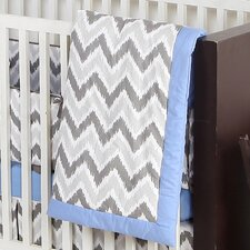 Ikat Chevron Crib Blanket