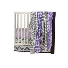 Ikat Dots/Leopard 6 Piece Crib Bedding Set