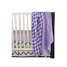 Ikat Dots/Leopard 4 Piece Crib Bedding Set