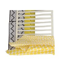 Ikat Dots/Giraffe 4 Piece Crib Bedding Set