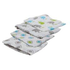 Elephants Muslin Blanket (Set of 4)