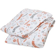 Basketball Muslin Fitted Crib Sheets (Set of 2)