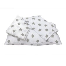Stars Ikat Muslin 4 Piece Toddler Bedding Set