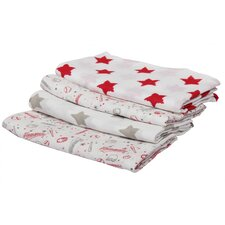 Baseball Swaddling Blanket Set (Set of 4) (Set of 4)