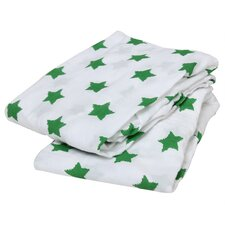 Basketball / Stars Elephants Muslin Fitted Crib Sheets (Set of 2)