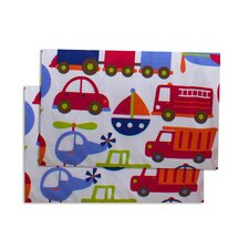 Transportation Printed Fitted Crib Sheets (Set of 2)