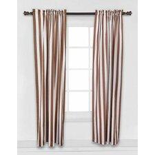 Stripes Cotton Rod Pocket Single Curtain Panel