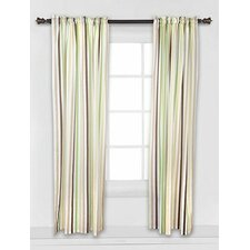 Mod Dots and Stripes Stripes Cotton Rod Pocket Curtain Panel