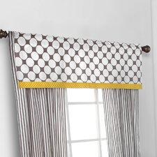 Dots/Pin Stripes Window Curtain Valance