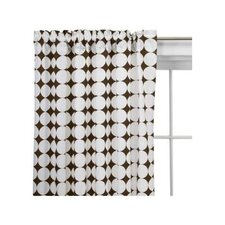 Reverse Dots Cotton Rod Pocket Single Curtain Panel