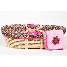 Damask Moses Basket