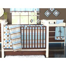 Mod Diamonds and Stripes 4 Piece Toddler Bedding Set