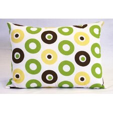 Mod Dots and Stripes Cotton Boudoir/Breakfast Pillow