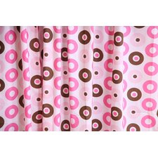 Mod Dots Cotton Rod Pocket Single Curtain Panel