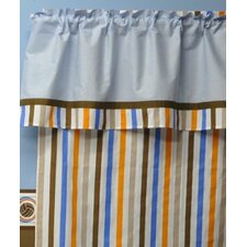 Mod Sports Stripes Cotton Rod Pocket Single Curtain Panel