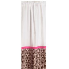 Damask Cotton Rod Pocket Single Curtain Panel