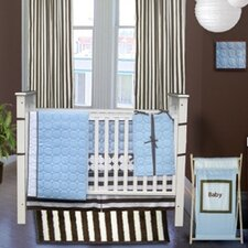 Quilted Circles 3 Piece Crib Bedding Set
