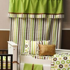 Mod Dots and Stripes Stripes Cotton Rod Pocket Curtain Panel
