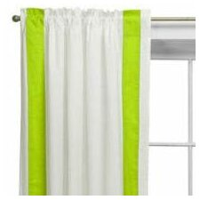 Valley of Flowers Cotton Rod Pocket Single Curtain Panel