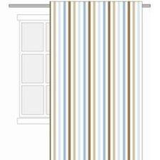 Mod Diamonds and Stripes Cotton Rod Pocket Single Curtain Panel