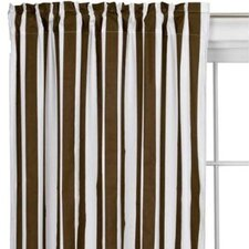 Stripes Cotton Rod Pocket Single Curtain Panel