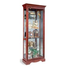 Candlelight Cherry Andante Curio Cabinet
