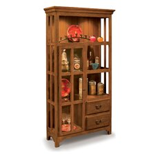 ColorTime Solid Wood Curio Display Cabinet