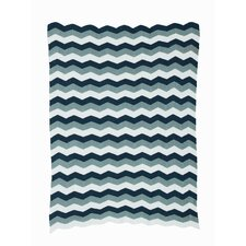 Zag Knitted Cotton Throw Blanket
