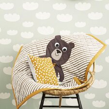 Bear Quilted Cotton Blanket