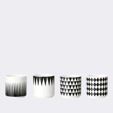 4 Piece Geometry Espresso Cup Set