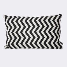 Zig Zag Cotton Lumbar Pillow