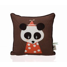 Posey Panda Organic Cotton Throw Pillow