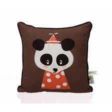 Posey Panda Organic Cotton Throw Pillow