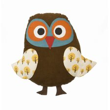 Owl Cotton Throw Pillow